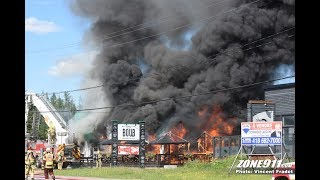 Incendie à Québec  / Fire In Restaurant Boub