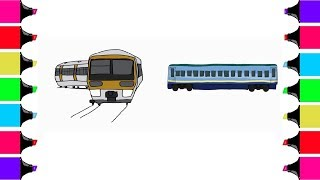 How To Draw A Train | Art Colors For Kids