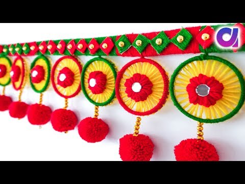DIY toran out of waste wool and bangles | wool craft idea | best out of waste | Artkala