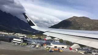 Beautiful view of Queenstown New Zealand Airport and view of Southern Alps thumbnail
