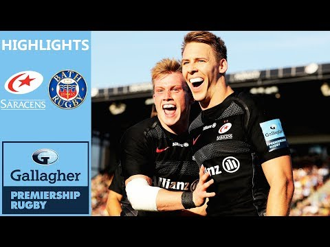 Saracens v Bath | Williams Scores Hat-Trick in Try Fest | Gallagher Premiership