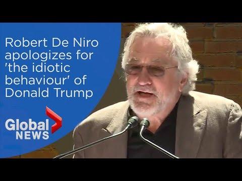 Robert De Niro apologizes to Canadians for Trump's 'idiotic behaviour'