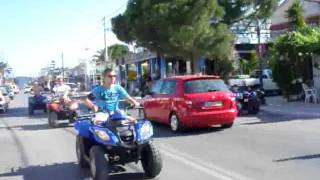 Zante quad biking (the strip)