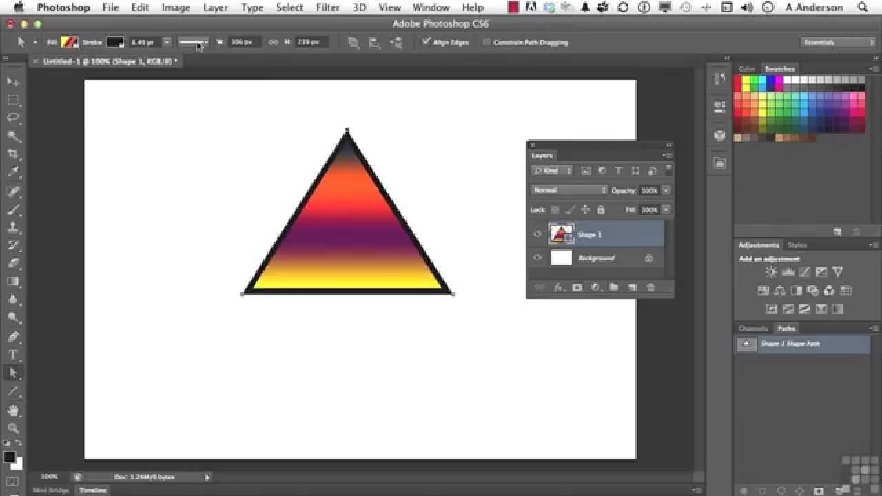 Adobe photoshop cs6 tutorial vector shapes youtube adobe photoshop cs6 tutorial vector shapes baditri Gallery