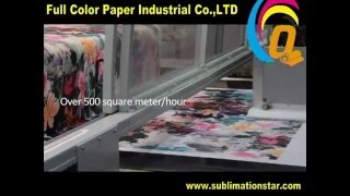 High Speed Lycra,Textile,Fabric Printing By Sublimation Paper and MSJP5 Printer