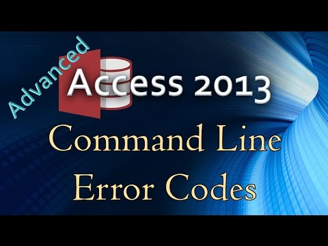33. (Advanced Programming In Access 2013) Returning Error Codes From A Command Line (WScript.Shell)