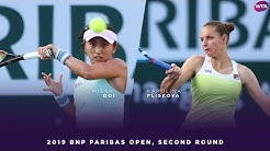 Misaki Doi vs. Karolina Pliskova | 2019 BNP Paribas Open Second Round | WTA Highlights