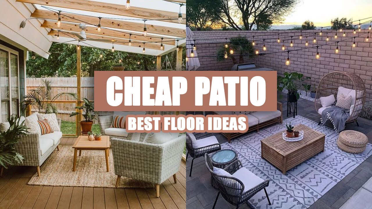 45 best cheap patio floor ideas
