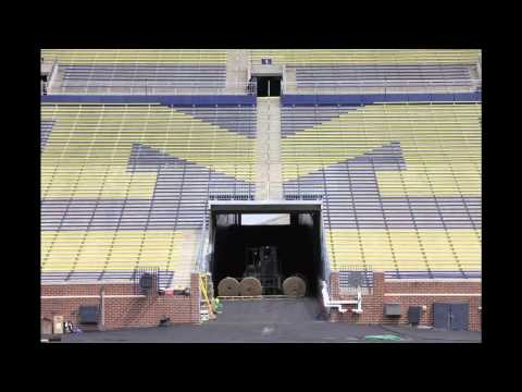 Video: Crew starts installing grass for ICC game in Michigan Stadium