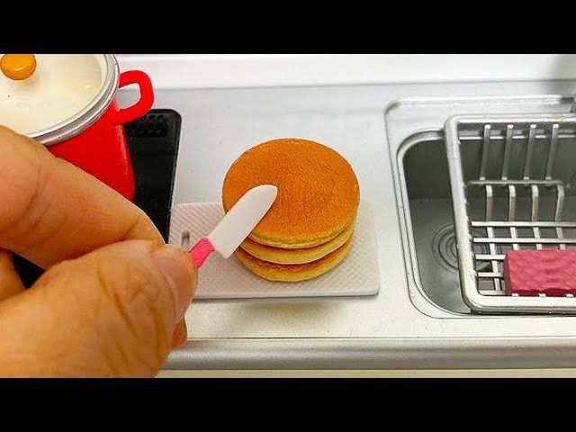 Miniature Cooking How To Make Cake   ASMR Re-Ment Cooking Mukbang Mini Kitchen Set 미니어처 요리 BoramiTV
