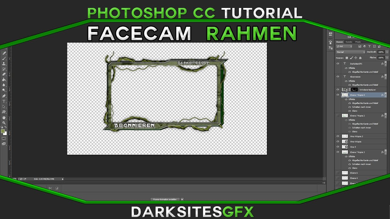 Photoshop CC | TUTORIAL Facecam rahmen | By DarksitesGFX [German ...