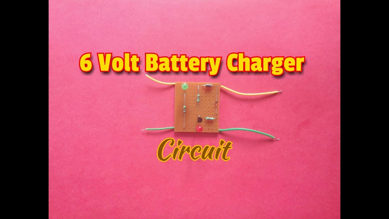 how to make 6 volt automatic battery charger circuit at home simple process easy way  [ 1280 x 720 Pixel ]