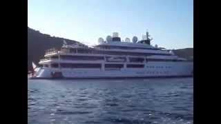 Emir of Qatar superyacht  Katara off the coast of Corfu, Summer 2014, Greece
