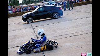KART KZ-2 vs BMW X6M Lumma. Drag race
