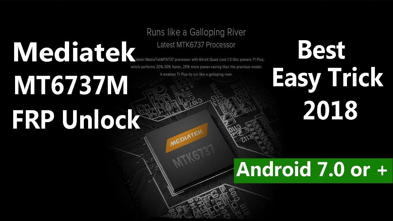 Mediatek Cpu MT6737M Frp Unlock Easy Trick 2018