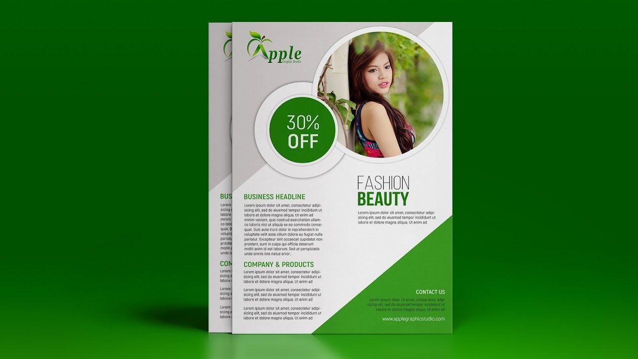 Fashion & Beauty A4 Flyer Design