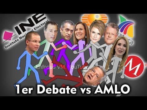 1er Debate Presidencial vs AMLO   22 de abril 2018 México