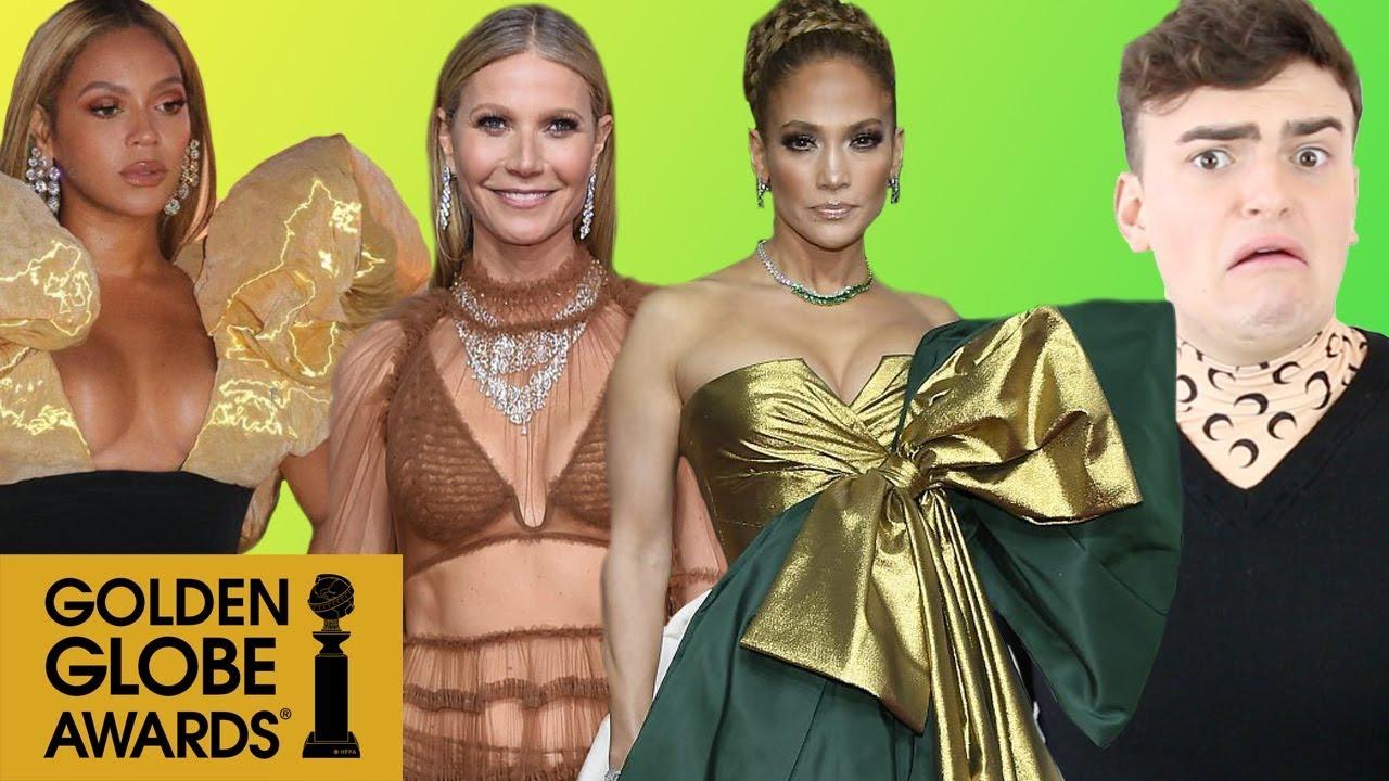 Golden Globes 2020 Fashion Roast Who Let Jennifer Lopez Wear Garbage Gift Wrapping
