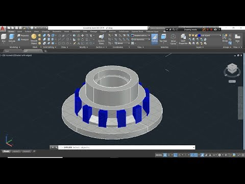 How To Subtract Array Element From Solid Model In AutoCAD 3D