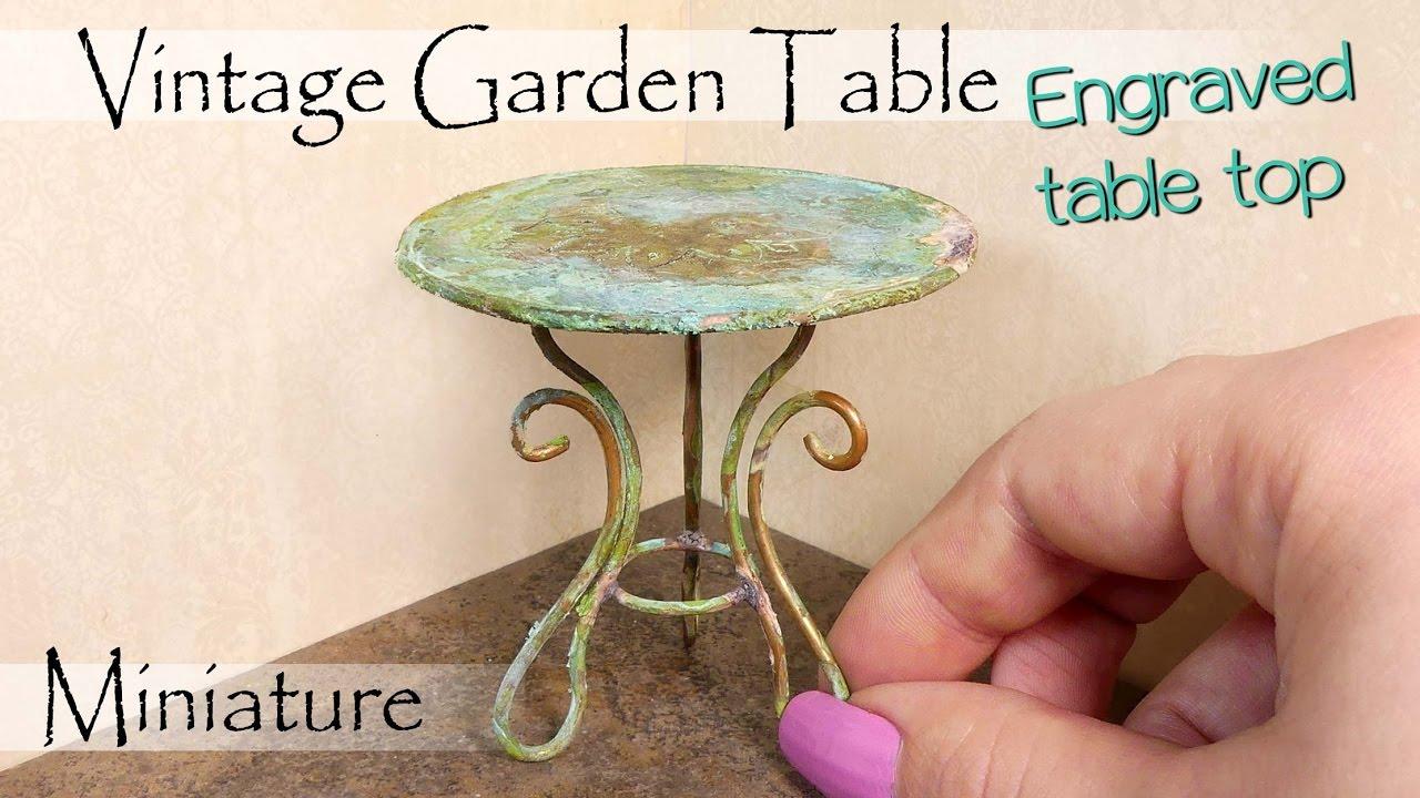 Miniature Vintage Garden Table Tutorial Diy Dollhouse Furniture Sugarcharm You