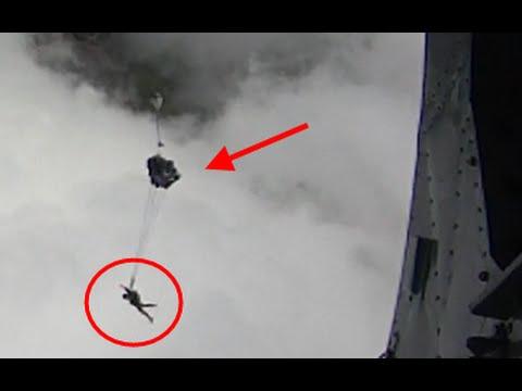 H-13 กระโดดร่มแทรกซึมฯ 35 ท่าดีหมุนไม่แรง