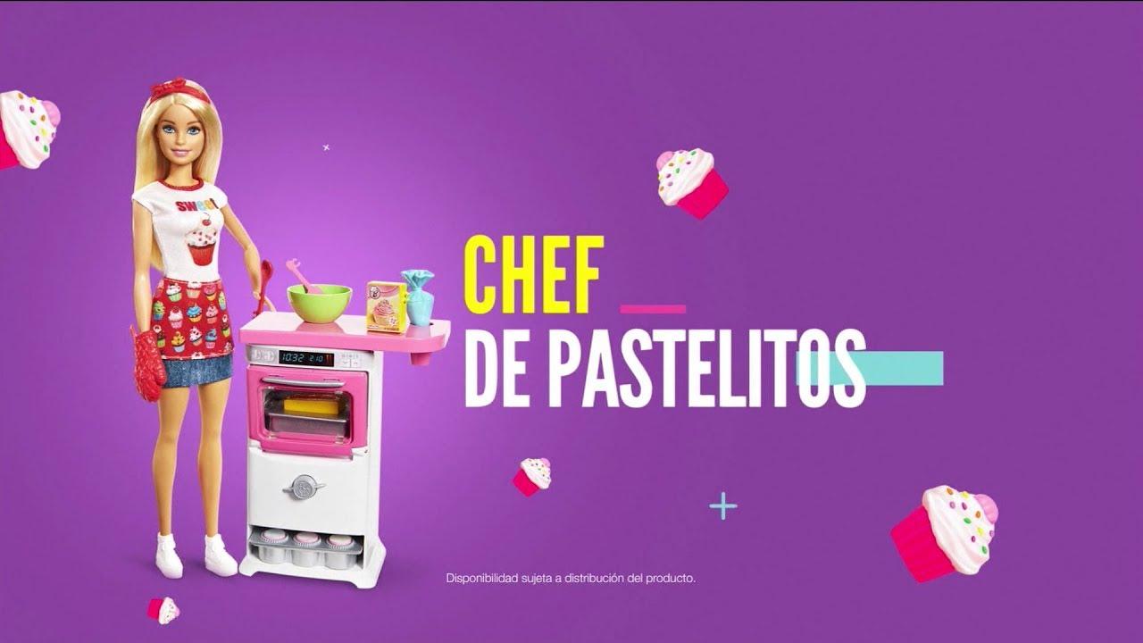 Comercial Barbie Cocina Y Crea Chef De Pastelitos 2018 Youtube