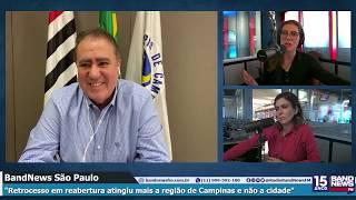 Prefeito de Campinas, Jonas Donizete, fala sobre retorno da cidade à fase vermelha no Plano SP