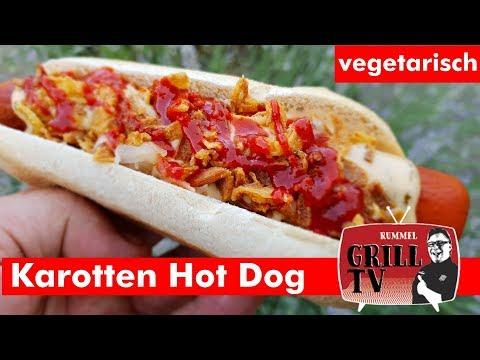 Karotten Hotdog. vegetarisches Grillen  Rummel Grill TV #rummelgrilltv