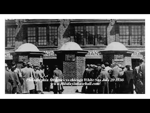 1936 Radio Broadcast Philadelphia A's vs Chicago White Sox