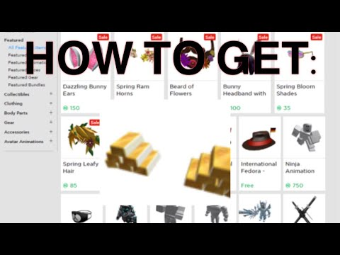HOW TO GET GOLDROW ROBLOX