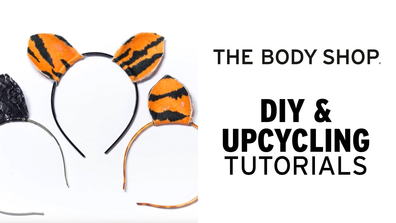 How To Make Halloween Animal Ears Diy Upcycling The Body Shop