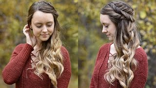 Side Swept Fishtail Updo | Holiday Hairstyle | Cute Girls Hairstyles