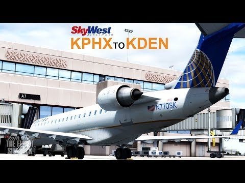 Prepar3D v4 | Learning the CRJ KPHX to KDEN | Aerosoft CRJ-700