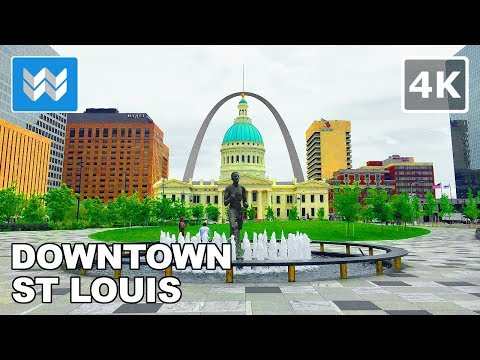 Walking around Downtown St Louis, Missouri 【4K】