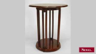 Antique Bentwood (hoffman Design) Round End Table With