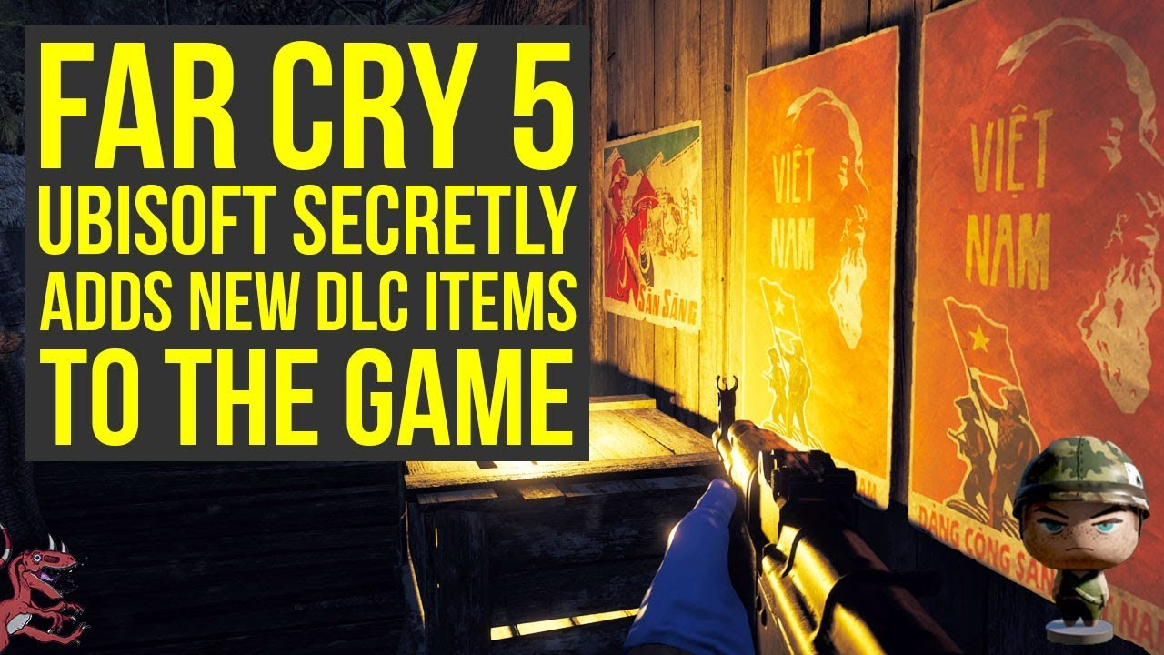 Far Cry 5 Dlc Ubisoft Secretly Adds New Dlc Items With Latest Update More Far Cry 5 Vietnam Dlc Youtube