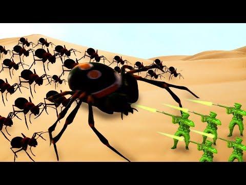 БИТВА СОЛДАТОВ ПРОТИВ ОГРОМНЫХ ЖУКОВ! | The Mean Greens - Plastic Warfare