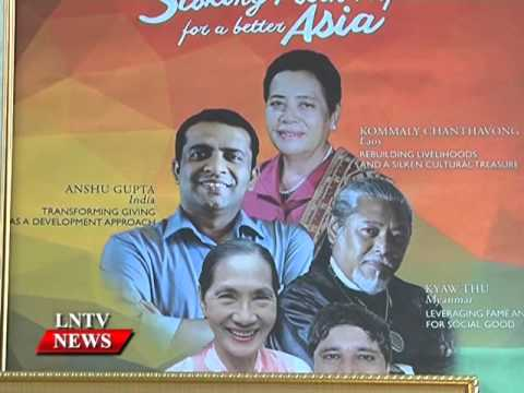 Lao NEWS on LNTV: Lao silk, jewellery designs win Asean awards  2015.21/10/2015