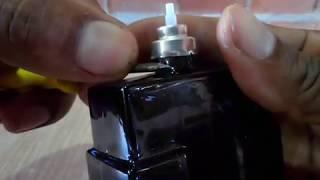 Como abrir frascos de perfume spray recravido