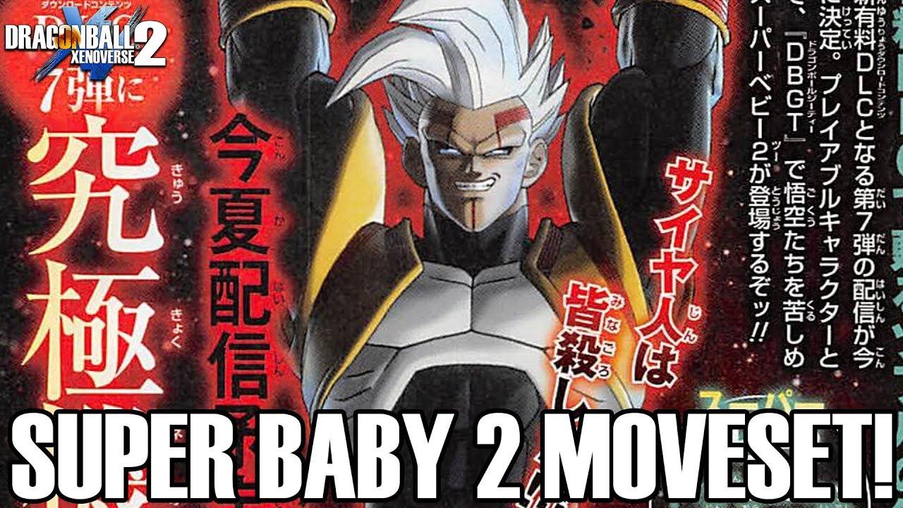 SUPER BABY 2's MOVESET!!! Dragon Ball Xenoverse 2 DLC 7 Super Baby 2 Scan!