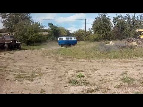 UAZ-452 blue and white tested