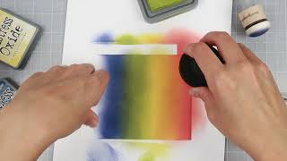 Distress oxide ink rainbow background (daughter does voiceover)