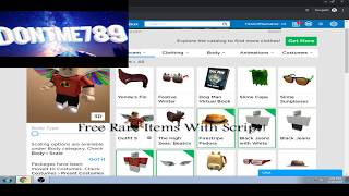 Free Rare Items in Roblox! ( with Script )