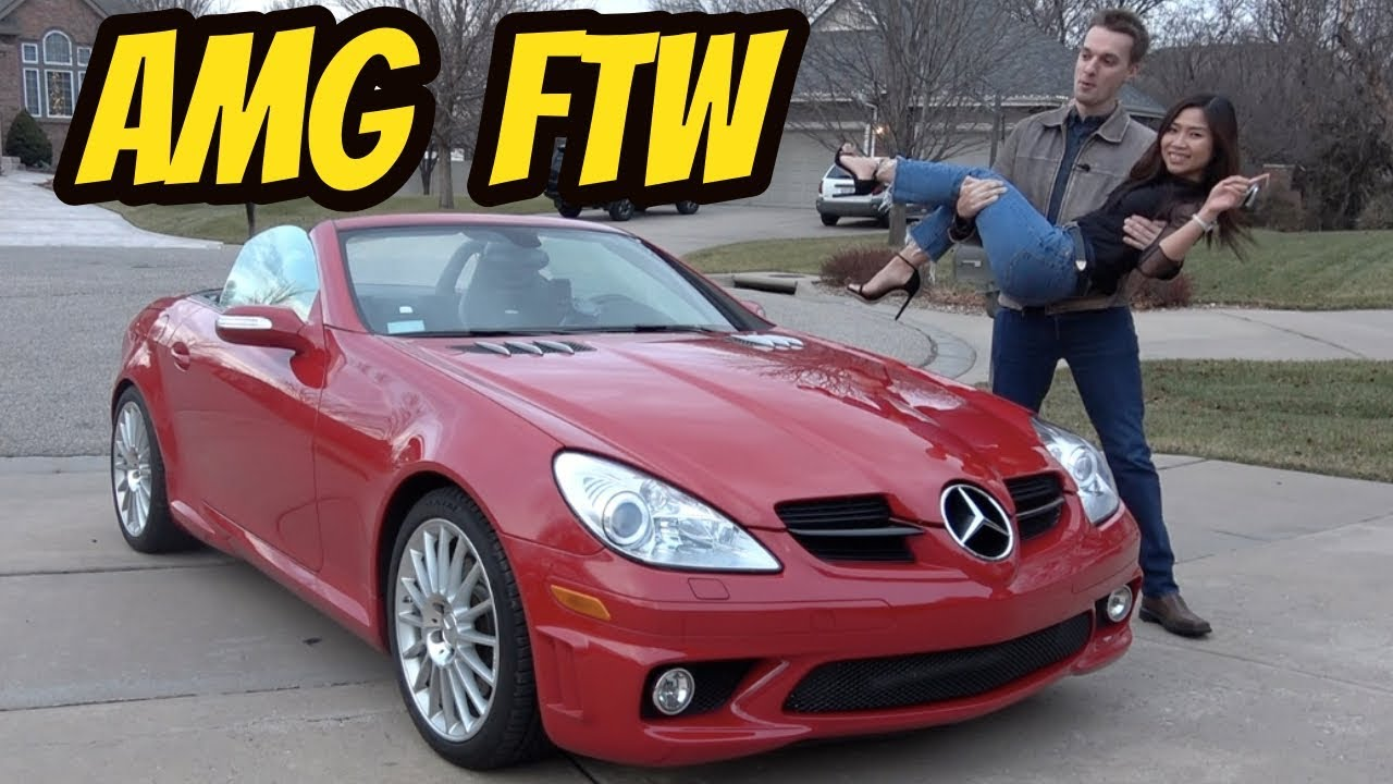 I Surprised My Girlfriend with a Rare Mercedes SLK55 AMG for Christmas