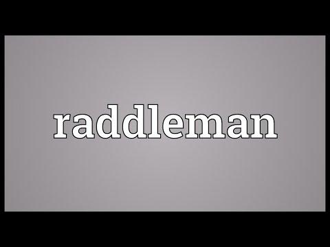Header of raddleman