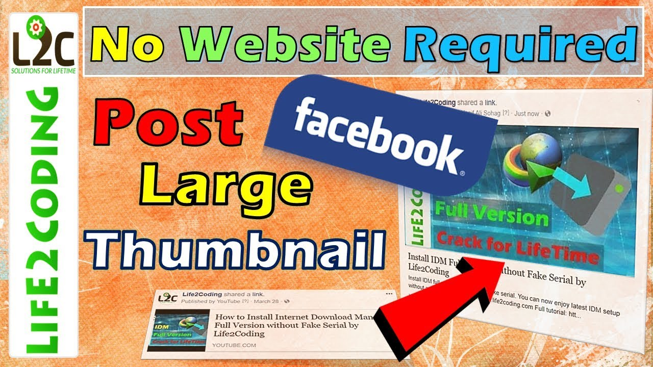 How to Post Large Thumbnails on Facebook | Without Any 3rd Party Website