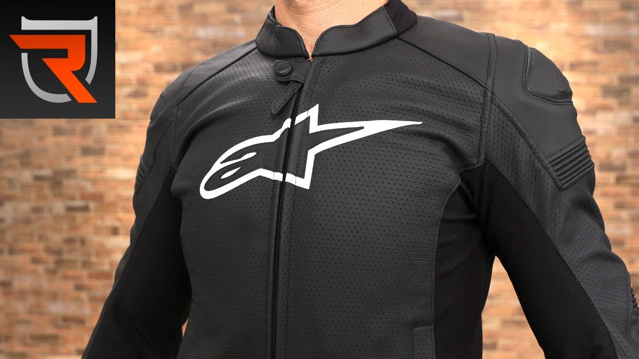 Alpinestars Jacket Leather >> Alpinestars SP-1 Airflow Leather Motorcycle Jacket Product Spotlight Review | Riders Domain ...