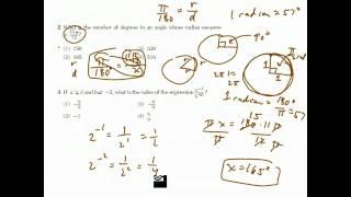Algebra 2 / Trigonometry Regents I