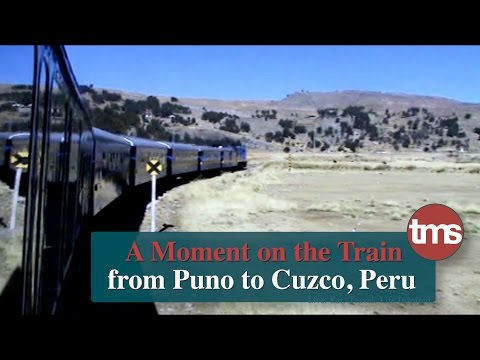 a Moment on the Train from Puno to Cuzco, Peru