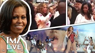 Michelle Obama Front Row At Beyonce Concert | TMZ Live